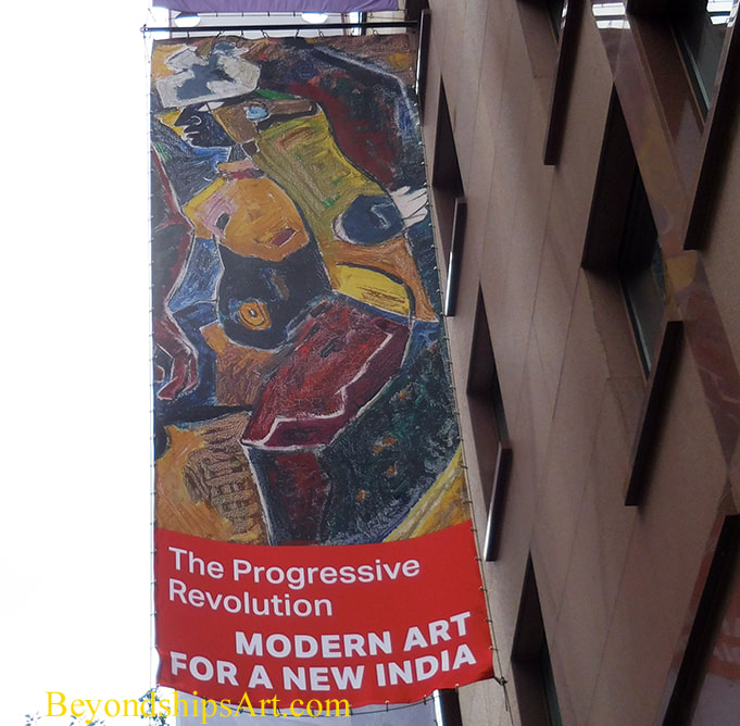 Exhibition banner outside the Asia Society Museum