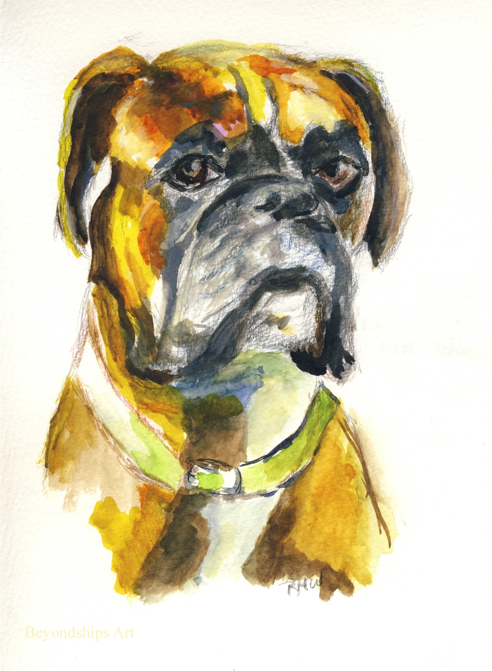 Painting of a dog by Rich Wagner